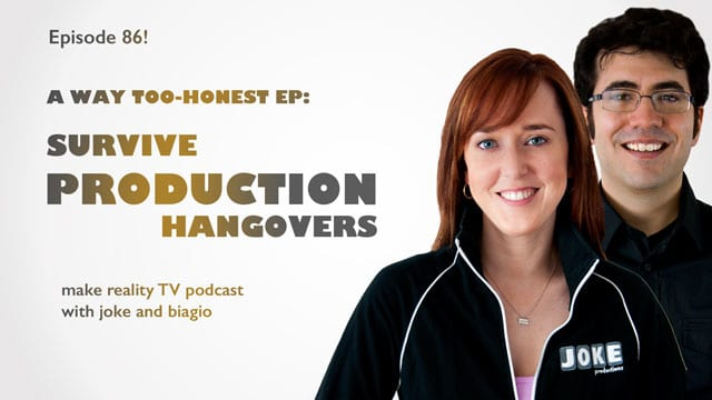 production hangovers from joke and biagio
